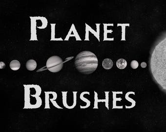 Procreate Planet and Sun Brushes