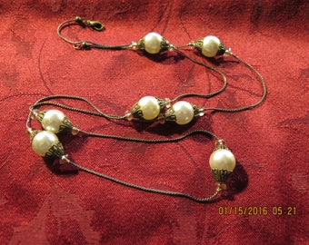 Vintage Style 7 Pearl Necklace