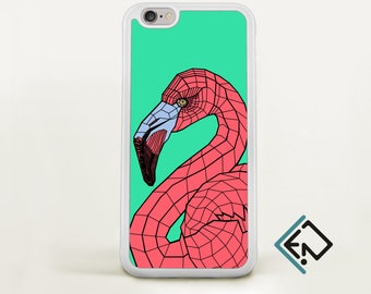 Iphone flamingo phone case iphone cover pastel pink accessory for iphone 8 geometric skin Iphone X case protective iphone 6s cover OT3