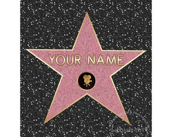 Clean image with regard to hollywood star template printable
