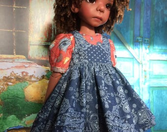 Dress and pinafore for Kaye Wiggs MSD
