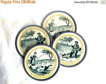 ON SALE Vintage Style French Coasters, Retro Coasters, Home Decor, Retro Decor, French Decor, Barware, Coasters