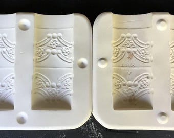 Vintage Carved Victorian Napkin RIngs Ceramic Mold D-790 Dona's A5