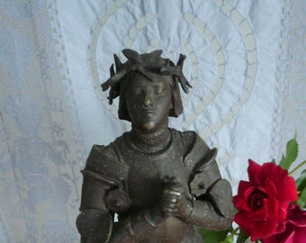 Reserved Reserved ReservedAntique JOAN OF ARC, French Bronze, Joan of Arc Figure, Joan of Arc Statue by Antonin Mercie, Religious Statue.