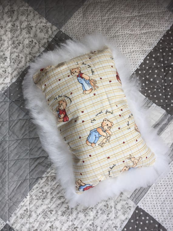 Sheepskin pillow for children