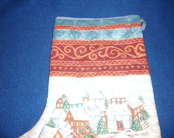 Christmas Village Christmas Stocking