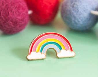 Pastel Rainbow Pin- Cute Enamel Pin Badge - Rainbow Baby Gift - Mothers Day Gift - Gifts for Her - Rainbow Lovers - Colourful Pin - Cute Pin