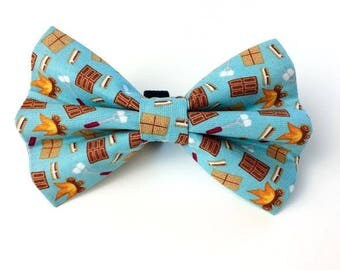 S'Mores Bow Tie | Dog Bow Tie | Bow Tie for Dogs | Camping Bow Tie | Summer Bow Tie | Food Bow Tie | Blue Bow Tie