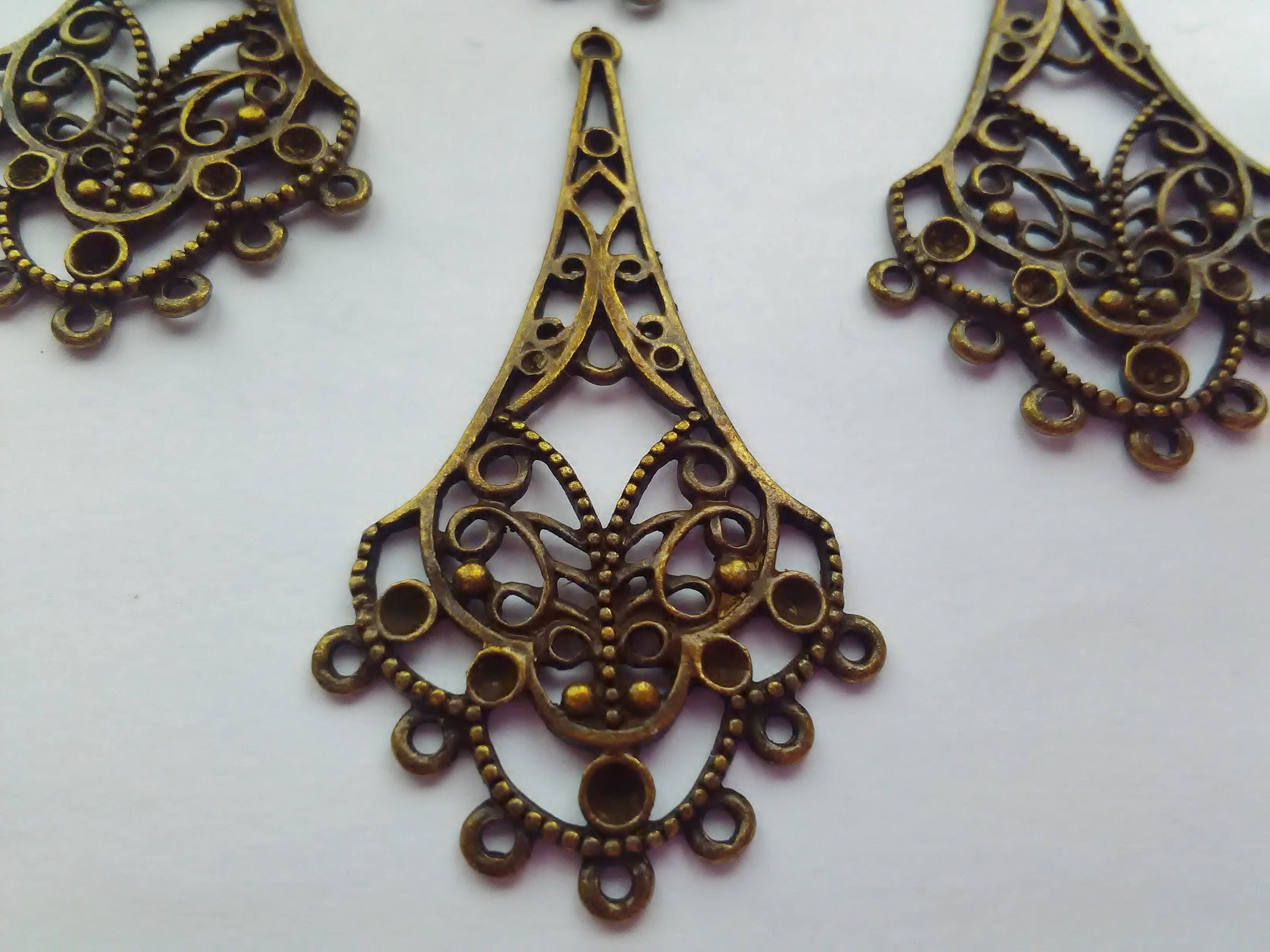 4 large chandelier earring pendant settings 55mm 2 14 bronze 359 arubaitofo Image collections