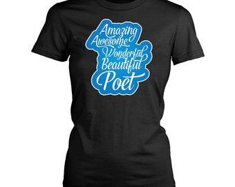 Poet womens fit T-Shirt. Funny Poet shirt.