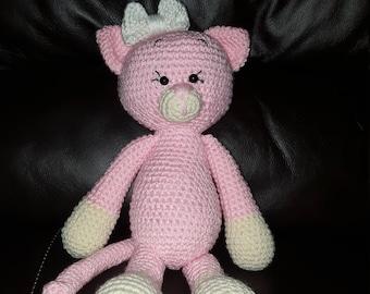 crocheted kitten, knitted kitten, yarn kitten, yarn animals,