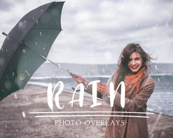 50 Rain photo overlays
