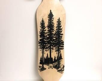 Handcrafted Longboard Build using reclaimed Hardwood