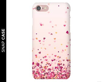 Falling Hearts Phone Case, Heart Phone Case, iPhone 7 Love Case, iPhone 7 Case, Samsung Phone Case, Samsung Case, Love Phone Case, Hearts