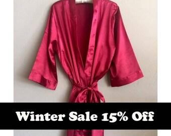 Bridesmaid Robes, Satin Robes, Silk Robes, Monogrammed Robes, Personalized Robes, Kimono, Robes for Bridesmaids, Bridal Robe, Robe