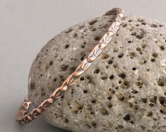 Copper Stacking Bangle, Copper Bangle, Copper Bracelet, Handmade Bangle, Stamped Bangle, Stacking Bangle, Stackable Bangle