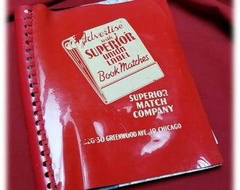 Match Advertiser ~ Salesman Catalog ~ Superior Match Company ~ Chicago ~ Advertise with Superior Union Label Match Books! ~ Great Collector