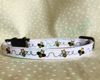 Bumble Honey Bee Cat or Small Puppy Collar