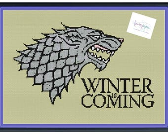 House Stark Sigil Game of Thrones Unofficial Cross Stitch Pattern DIGITAL PDF (Pattern Only)