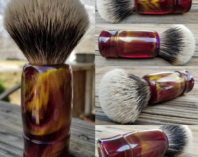 Purple and Gold Shaving Brush, Handmade, Free Shipping