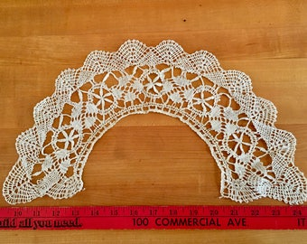 Antique Lace Collar Handmade Lace Vintage Edwardian Victorian  Costumes Notions Gypsy Boho Fashion