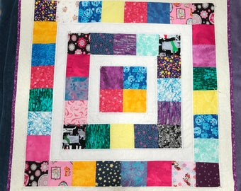 Colorful Sparkly Baby Crib Quilt