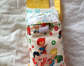 SUMMER SALE!!! Candy shop babies diaper and wipe sack with wrist strap/ Michael Millers Candy Shop Babies