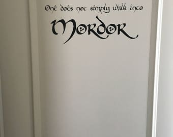 Lord of the Rings Vinyl Wall / Door Decal