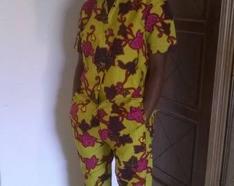 handmade shirt and Capri pants set