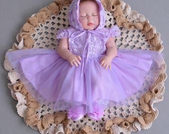 Lace Baby Girl Dress, Lilac / Pink / White