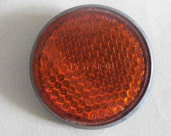Soviet Bike Reflector,  Orange Bicycle Light Reflector, Made in USSR
