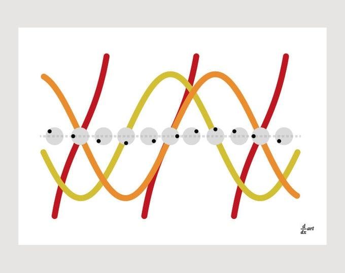 Waves 06 [mathematical abstract art print, unframed] A4/A3 sizes