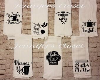 Kitchen Towel, Flour Sack Towels, Kitchen Decor, Hostess Gift, Kitchen Towels, Dish Towel, Housewarming, Kitchen Towel, Tea Towel, Funny
