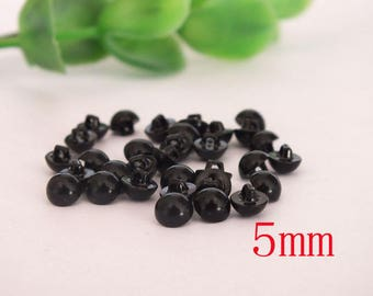 40pcs-5mm Buttons Eyes /black safety eyes for diy doll accessories,sewing eyes,toy eyes