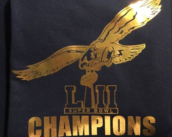 Eagles T-shirts Super Bowl Champions T-Shirts Philly T-shirt Philadelphia Eagles Shirt Vinyage Eagles Shirts Retro Eagles Super Bowl 52 Gold