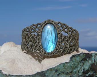 Labradorite Macrame bracelet Energy healing jewelry Spiritual gift Macrame jewelry Energy bracelet Crystals for men Macrame stone bracelet