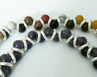 Amethyst gemstone bracelet Goddess bracelet Gemstone jewellery amethyst jewellery Boho bracelet purple jewellery Silver bracelet