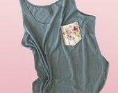 Women's Tank Top, Pocket with Disney, Neon Disney