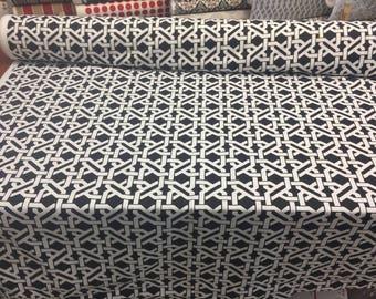 Mill Creek Haldor Black White indoor outdoor multi-purpose fabric by the yard