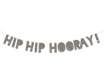 Meri Meri Hip Hip Hooray banner. birthday banner. graduation banner. hip hip hooray banner. grad party. grad decor. celebration banner