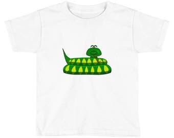 Cartoon Snake Kids Graphic T-Shirt