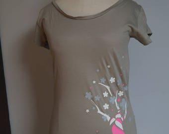 Beige women t-shirt