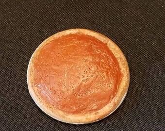 Dollhouse miniature pumpkin pie