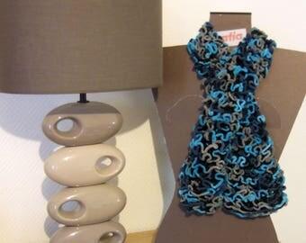 Frou frou velvety turquoise scarf