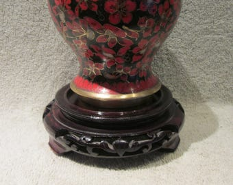 Chinese  Cloisonne Temple Ginger Jar From The Kuo Family of China very vintage markings