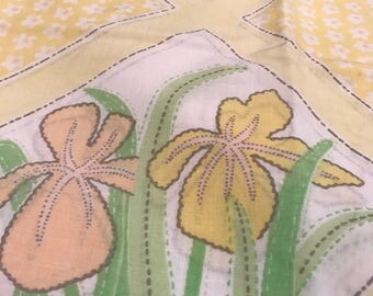 Vintage Yellow Floral pillowcases Floral