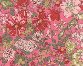 Moda REGENT STREET LAWNS Quilt Fabric 1/2 Yard By Sentimental Studios - Rose 32931 15