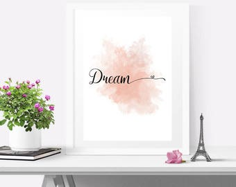 Nursery decor wall art, a5 prints art, Girls room decor, Nursery wall art girl, Typography print inspire, Motivational print girl