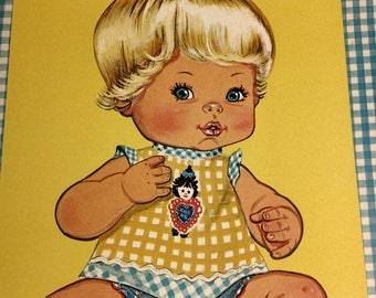 Tender Love 'n Kisses paper doll book   1978   Vintage   New condition   Whitman book #1944-1