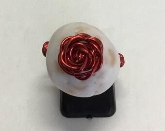 Puka Shell Rose Wrap, Molokai Puka Shell, Puka Shell, Cone Seashell, Hawaiian Seashell, Hawaiian Puka Shell